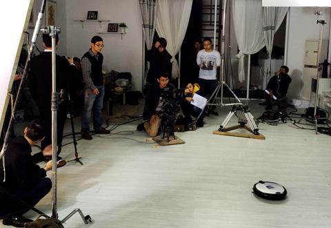 扫地机器人 产品摄影拍摄花絮
